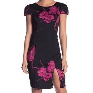 Betsey Johnson Floral Front Sheath Dress Size 6